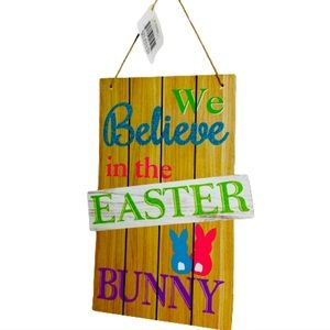 Rustic We Believe Wooden Easter Wall Hanging